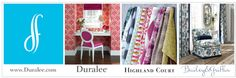 Delightful Duralee Fabric, Furniture, Trim & Hardware for your Home & Office. Add a Splash of Summer color. See more brands on our web site and SHOP-AT-HOME Services at www.juliascustomwindows.com. We delivery directly to your Home & Office. Fabulous Fabrics, Summer Colors, Home Office, Delivery, Hardware, Shopping, Furniture, Office Home, Home Offices