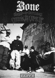 Ad for Bone's major label EP release (1994). #bonethugs #eazye #krayzie #layzie…