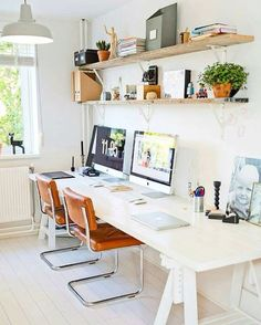 White Home Office Ideas To Make Your Life Easier; home office idea;Home Office Organization Tips; chic home office. Home Office Space, Home Office Design, Home Office Furniture, Home Office Decor, Office Ideas, Office Inspo, Office Designs, Office Spaces, Bedroom Office