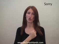 sorry - ASL sign for sorry - YouTube