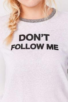 Truly Madly Deeply Dont Follow Me Baseball Tee - Urban Outfitters
