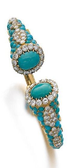 Turquoise and diamon beauty bling jewelry fashion