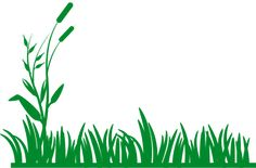 PublicDomainVectors.org-Green silhouette vector image of grass background. Color illustration of grass banner.