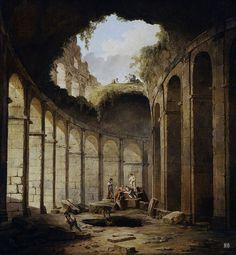 The Colosseum. Rome. 1780-90. Hubert Robert. French. 1733-1808. oil /canvas. Museo del Prado. http://hadrian6.tumblr.com