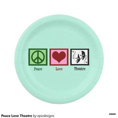 Peace Love Theatre Club Party Plates