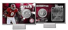 nice Julio Jones Alabama: Card Display With Commemorative Silver Coin - Limited Edition Sports Gift