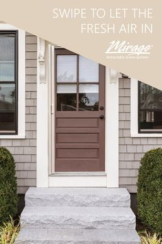 Freshening the air in your home is as easy as sliding a Mirage Retractable Screen Door open. Retractable Screen Door, Door Opener, The Fresh, Outdoor Decor, Easy
