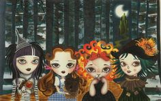 OZ Girls is from the original artwork of Sandra Vargas and the needlepoint class…