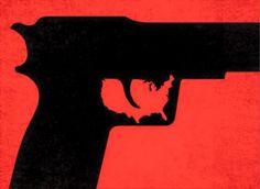 - America's Gun - #BlackandRed #Artwork #Gun #America #RedandBlack http://www.pinterest.com/TheHitman14/black-and-red/