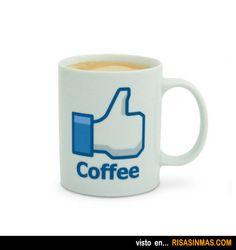 Tazas de café originales: Me gusta de Facebook.