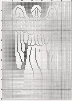 Ravelry: Dr. Who Weeping Angel Chart pattern by Elizabeth Harac. (I don't know what kind of craft this is, but I'm pinning it anyway...)