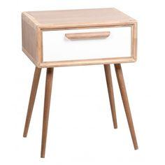 Mesilla noche Janli 1 cajón madera diseño nórdico