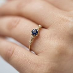 Beautiful, not too big, blue, also from catbird jewellery