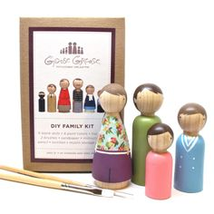 DIY Fair Trade Wooden People - be creative and paint your own! $51
