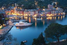 The beautiful village of Portofino, Italy. A statue of Christ of the Abyss, lies underwater at a depth of 56 feet. It was placed to protect fishermen and scuba divers