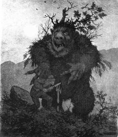 vargynjar:  Theodor Kittelsen illustration to norwegian fairytale.