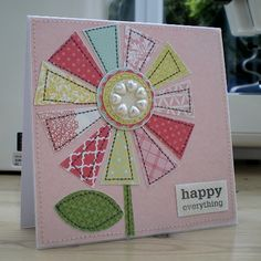 It's time for another card challenge over on the Ribbon Girl Blog. This month is simple - just add pearls! It really is as easy as ...