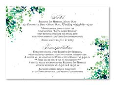 Birch Tree Wedding Invitation on plantable paper ~ September Birch Tree by ForeverFiances Weddings