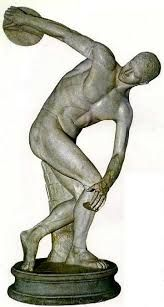 Escultura Griega (Discóbolo de Mirón) 455 a.C