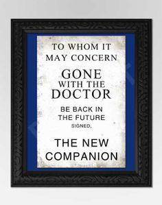 Doctor Who Inspired Art Print  Companion Door  by GeekQueenDesigns, $16.00