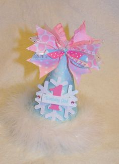 Sparkling Snowflake Princess Party Hat in by LittlePinkTractor, $14.50 TOO CUTE