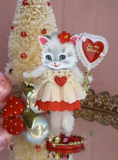 Vintage Inspired SuGaR SwEeT Valentine Kitty by saturdayfinds