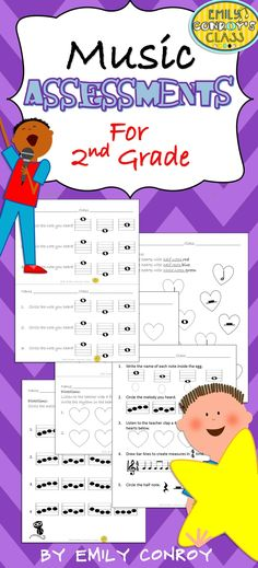 This set includes 12 assessments for 2nd grade music students and one cumulative assessment to use as a pre or post-assessment!