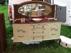 sideboard for sale, french sign written by hand simply stunning....