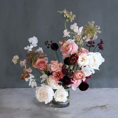 Order your flower arrangements for Portland delivery with Color Theory Design Co. Contemporary Flower Arrangements, Flower Arrangements Simple, Vase Arrangements, Floral Wedding, Wedding Flowers, Wedding Bouquets, Same Day Flower Delivery, Floral Foam, Autumn Garden