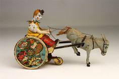 Antique 1930s Lehmann Balky Mule German Tin Windup Toy