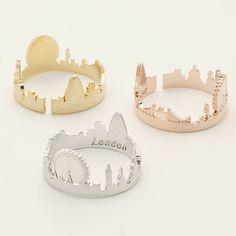 London ring / Cityscape ring, souvenir London, skyline ring, city ring…