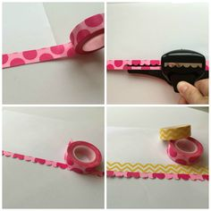 Washi Tape Ideas: Use Washi to create scrapbook border