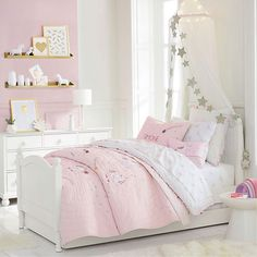 Teen girl bedrooms, masterfully charming pin tip number 3086412931 - Ripping and breath taking teenage girl room images. French Country Bedrooms, Little Girl Rooms, Toddler Girl Rooms, Teen Girl Bedrooms, Metal Shelves, Baby Room Decor, Toddler Room Decor, Pottery Barn Kids, Bed Frame