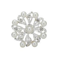 Fashion Women's Pin Brooch Elegant Flowers Pearl Brooch Pin Alloy Accessories Bride Clothing Brooch