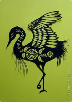 Картина панно рисунок Вырезание Журавлик_Angie Pickman Бумага фото 1