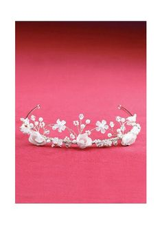 Twisted Wire Silk Flower Crown 9825