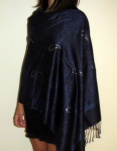 Gotgeous evening shawl wrap - classy, affordable and beautiful made for her in mind! prod #4855 http://www.yourselegantly.com/pashmina-shawls/handcrafted-shawls.html
