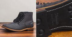 Oak Street Bootmakers Matte Black Dainite Trench Boot - http://hddls.co/2c18eFX