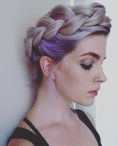 Lilac crown braid