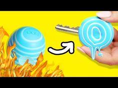 DIY Melted EOS KEY CAPS ♥ Decorate KEYS with your EOS | DIY Lollipop KEY! - YouTube
