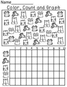 Resultado de imagen para graphing worksheets for kindergarten Graphing Worksheets, Kindergarten Worksheets, Worksheets For Kids, In Kindergarten, Math Activities, Counting Worksheet, Preschool Graphs, Math For Kids, Fun Math