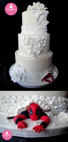 Les plus beaux gâteaux geeks - Deadpool <<This is gonna be my future wedding cake