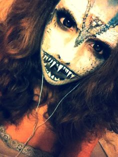Siren make up, so ready for next Halloween