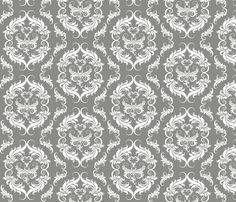 Flourishing Damask fabric by cksstudio80 on Spoonflower - custom fabric