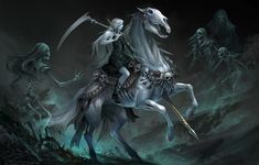 Carousel Death Horse by sandara Fantasy Girl, Dark Fantasy, Warcraft Legion, Celtic Music, Latest Hd Wallpapers, Graphic Artwork, Necromancer, Dragon Art, Grim Reaper
