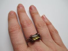 Labradorite Ring in Antique Copper on Etsy, $30.00