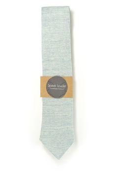 blue men tie, blue serenity cotton chambray laid back necktie