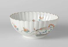 Petalled bowl with brushwood fences, mistflower, chrysanthemum en hoo, Anonymous, , c. 1670 - c. 1690