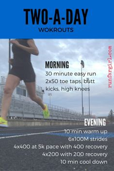 2 A Day Workouts, Month Workout, Running Workouts, Running Tips, At Home Workouts, Fitness Workouts, Trail Running, Workout Twice A Day, Running Plans