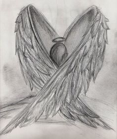 Sad meaningful drawings - quotes of the day Demon Drawings, Sad Drawings, Dark Art Drawings, Pencil Art Drawings, Art Drawings Sketches, Drawings Of Angels, Broken Drawings, Angel Drawing Easy, Angel Wings Drawing